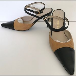 CHANEL CLASSIC ANKLE STRAP HEEL